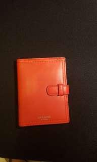 Coach leather passport holder