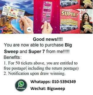 Big sweep & Super 7 tickets