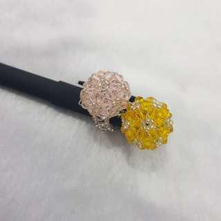 Swaroski Crystals Handmade Rings( Free size)