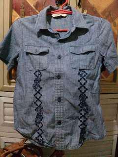 OLD NAVY Denim Polo Shirt