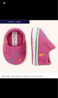 🆕 Authentic Ralph Lauren Baby Girl Shoes (3-6mths)
