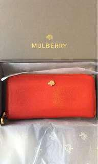 Mulberry red wallet