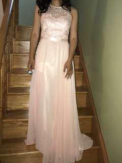Light pink prom dress (RENTAL OPTION AVAILABLE)