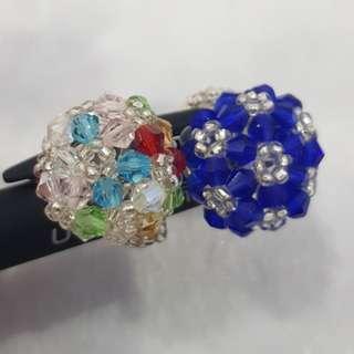 Handmade Swaroski crystals ring