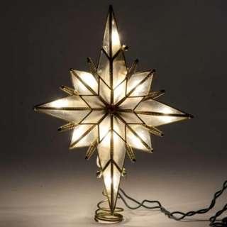 519 Star of Bethlehem Glass Gem Centerpiece Christmas Tree Topper