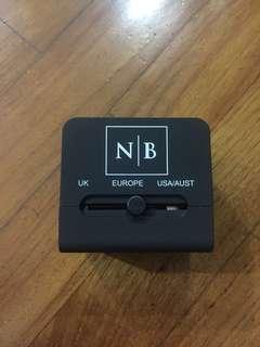 Multi purpose travel power plug usb charger adaptor