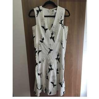 Sportmax 白色花花裙 white floral dress