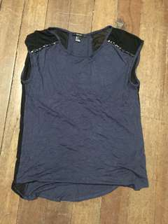 F21 side see through blouse