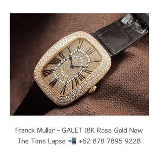 Franck Muller - GALET 18K Rose Gold with Diamonds Setting (New in Box)