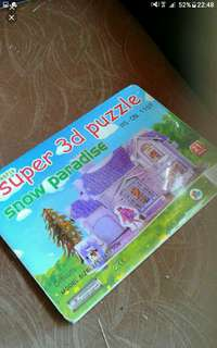 3D puzzle   Barbie Doll playhouse  4 pieces of foam board to assemble  Pick up hougang buangkok mrt  Or add $1 postage