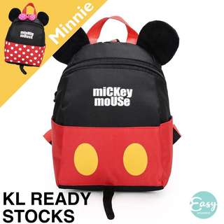 Kids Preschool Mickey Minnie Anti-Lost Backpack Bag