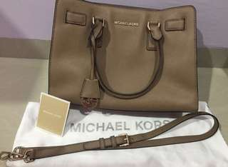 Michael Kors Dillon Top Zip Satchel Medium Saffiano Leather