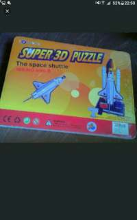 3D puzzle   Rocket  Pick up hougang buangkok mrt  Or add $1 postage