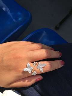 CZ Diamond jewellery butterfly ring