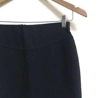 Black Pencil Cut Skirt