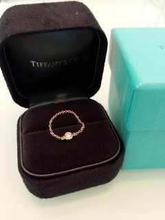 Tiffany 18K diamond ring