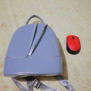 Small gray jelly backpack