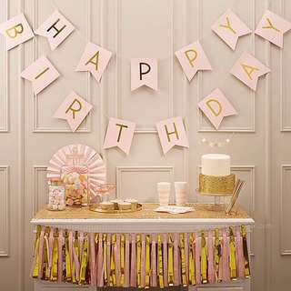 Happy Birthday Bunting (Pink)