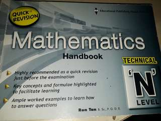 Quick Revision Mathematics Handbook N level ( Normal Technical)