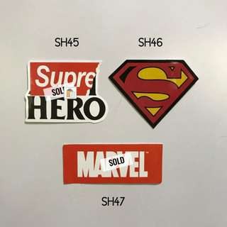 [NEW] Superhero Luggage Stickers /Laptop Stickers