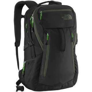 TNF Router 2015 Backpack Black/Forest Night Green