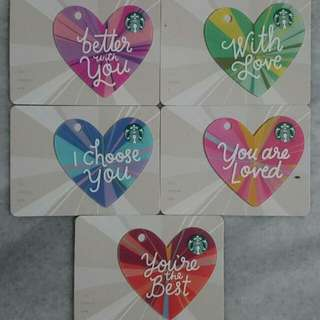 Starbucks S'pore Valentines Day Card 2018 Collection