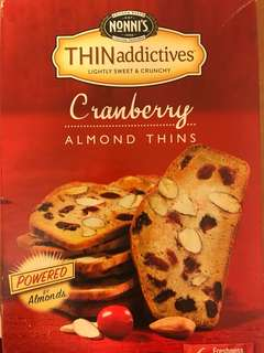 Nonnis cranberry almond thin