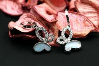 Navia Jewelry - Real Butterfly Wing Morpho aega Silver Earrings Korea