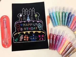 3+6 pcs Glue & Glitter Pens