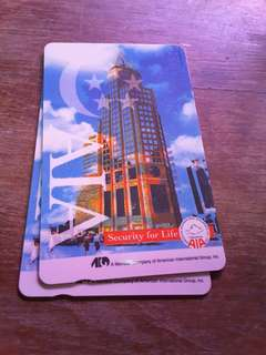 AIA phonecard