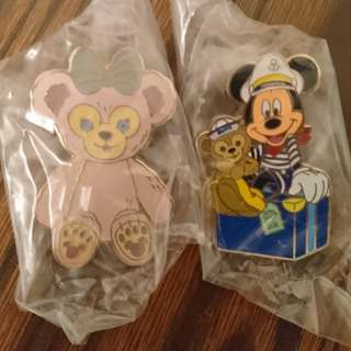 Disney pin trading 徽章交換 Duffy Mickey 罐pin Shelliemay