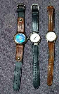 (80%new) 6隻 80-90年代錶(皮帶,彈弓鋼帶)