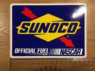 🚚 Original vinyl USA sticker Sunoco nascar
