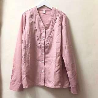 🚚 粉紅珠珠襯衫