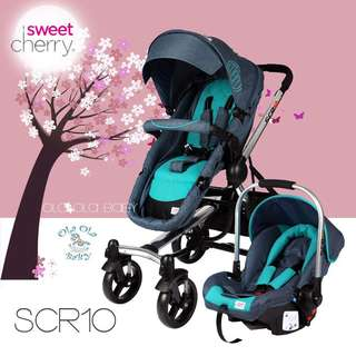 Sweet Cherry HYDRA Chrome Stroller SCR10