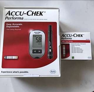 ACCU- CHEK Performa Blood Glucose Meter And Lancing Device plus 100 Test Strips 血糖測試機及100張試紙