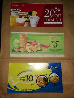 IOI Putrajaya Mall Vouchers x 6 Types