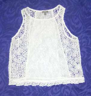 """""""Marks&Spencer"""" Crocheted and Lace Beach Cover-up"""