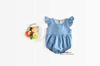 Denim Romper/ baby clothes/ muslin/ swaddle