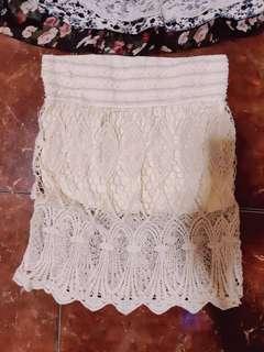 Korean white lace skirt