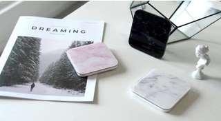 粉紅-雲石無線充電 MONOCOZZI wireless charging pad
