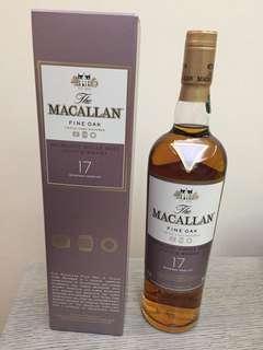優惠只限7⃣️月內:停產 Macallan 17年 Fine Oak