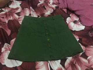 Greeb skirt