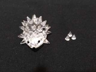 Swarovski Crystal Hedgedog 水晶刺蝟擺設