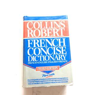 Collin Robert French English Dictionary
