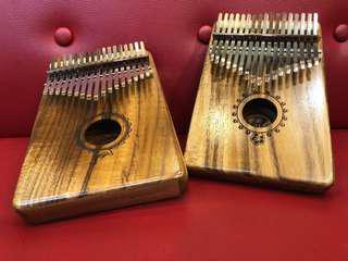 🚚 Puka Solid KOA Kalimba Finger PIano 17 notes 17音 單板相思木卡林巴琴