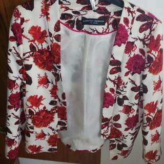 Floral blazer with lining(DP)