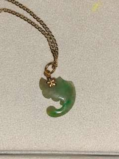 18 k gold with jade pendent