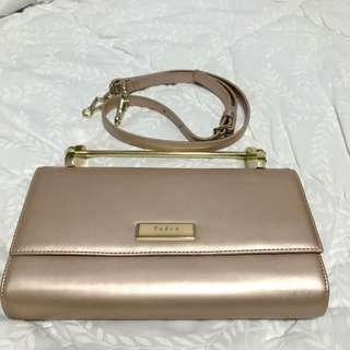 PEDRO dusty pink bag / clutch with strap