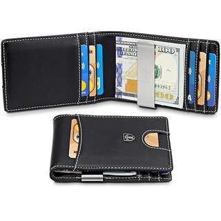 RFID Slim Wallet with Money Clip